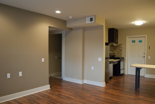 ADA Unit - Living Room/Kitchen Out View