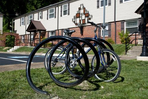 Corkscrew Bike Rack